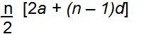 sum of n terms of ap